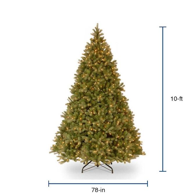 National Tree Company 10-ft Pre-Lit Artificial Christmas ...