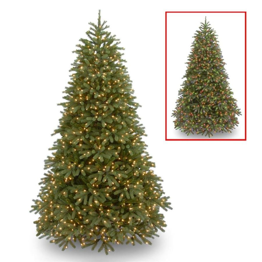 Real Christmas Trees Lowes: National Tree Company 7.5-ft Pre-Lit Jersey Frasier Fir