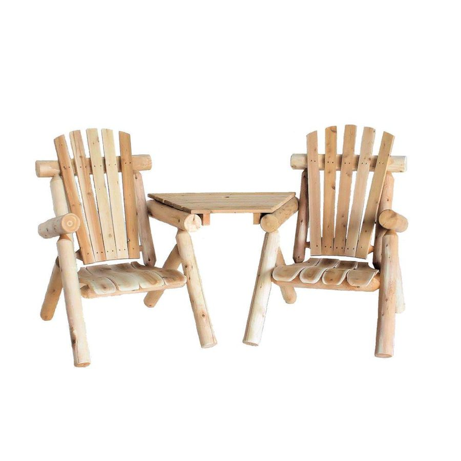 Lakeland Mills 2-Count Natural Cedar Cedar Patio Conversation Chair with