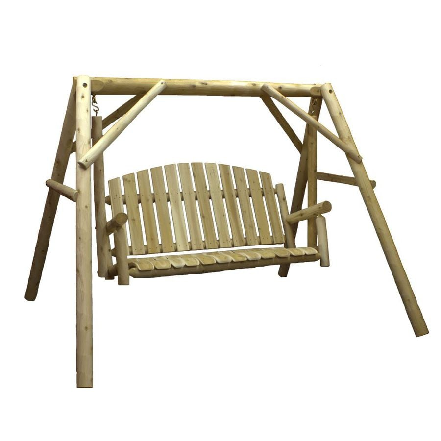 shop lakeland mills natural cedar porch swing at