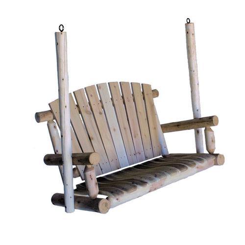 Lakeland Mills 2 Person Natural Cedar Wood Outdoor Swing