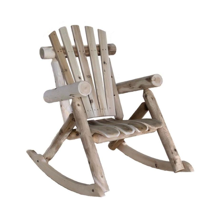 Lakeland Mills Natural Cedar Cedar Patio Rocking Chair with
