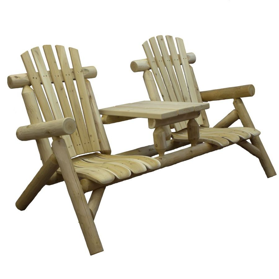 Charmant Lakeland Mills Set Of 2 Cedar Conversation Chairs With Slat Seat
