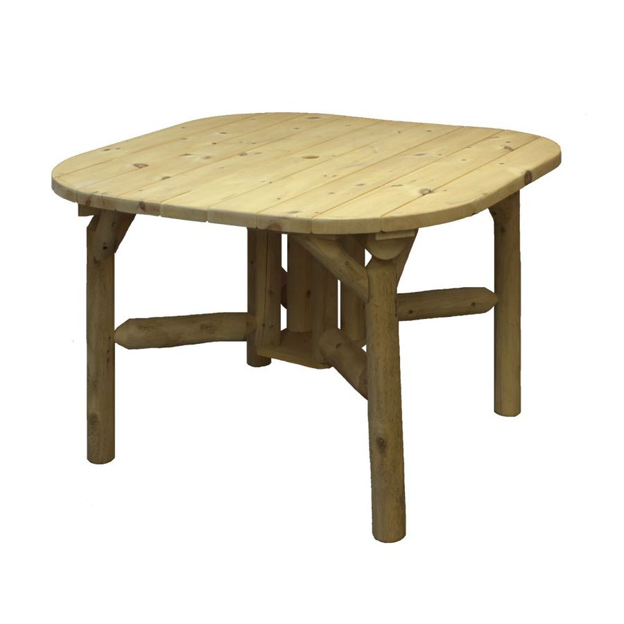 Lakeland Mills 47-in W x 47-in L Square Cedar Dining Table
