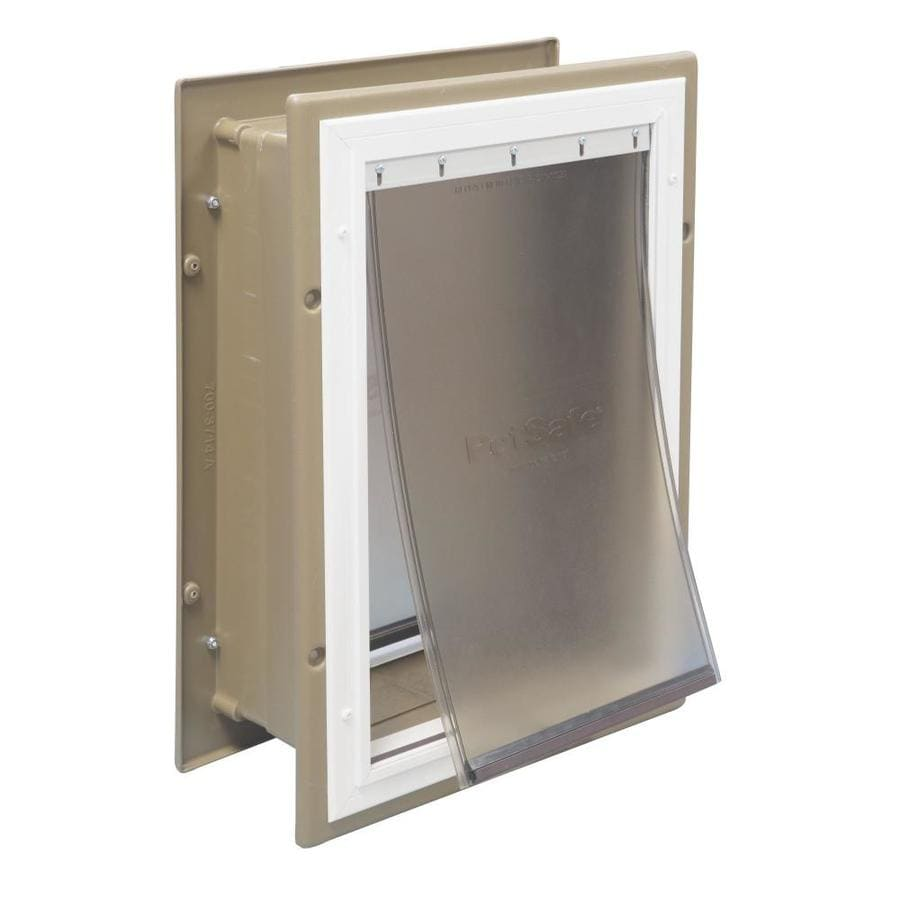 PetSafe Large Tan Aluminum Wall Pet Door (Actual: 16.875-in x 10.125-