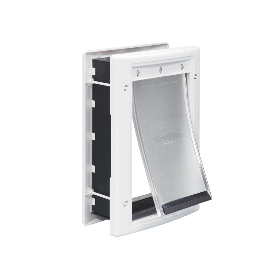 PetSafe Plastic Small White Plastic Door or Wall Pet Door (Actual: 7.625-in x 5.125-in)