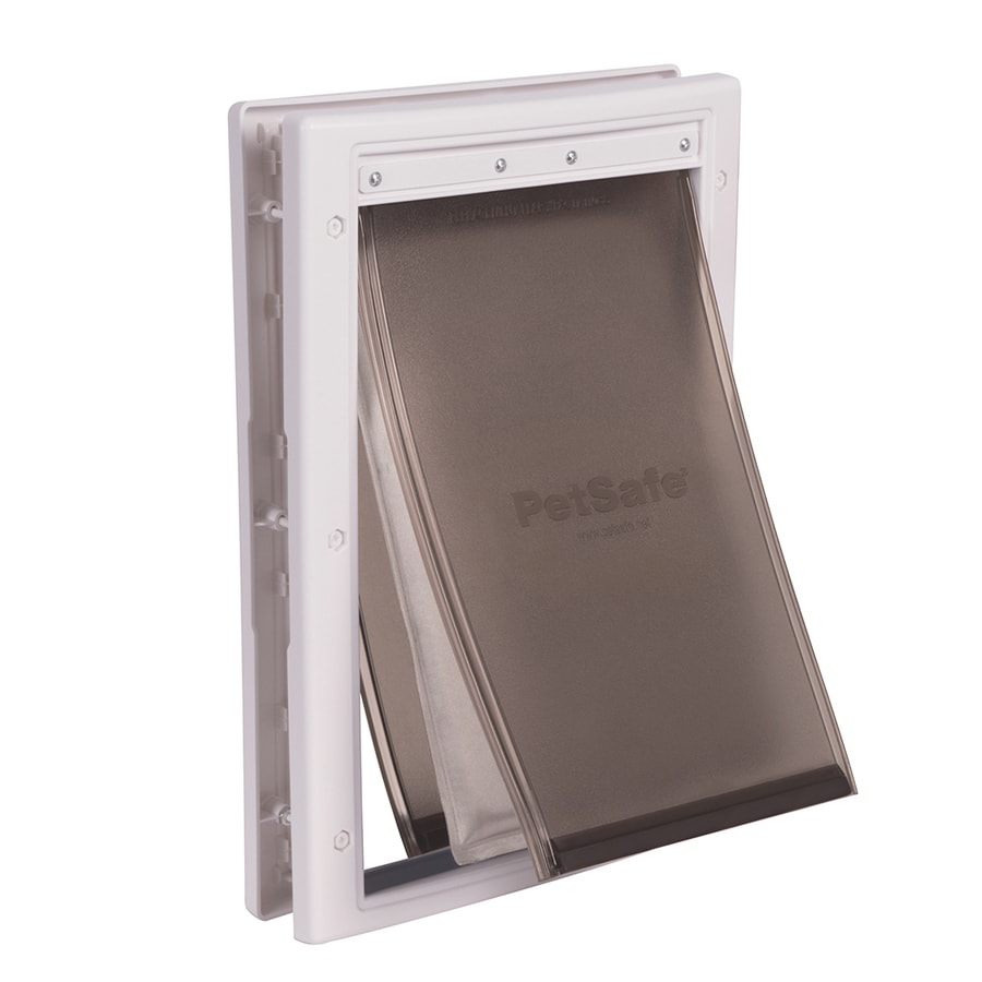 PetSafe Extreme Weather Medium White Plastic Pet Door (Actual: 8.125-in x 12.25-in)