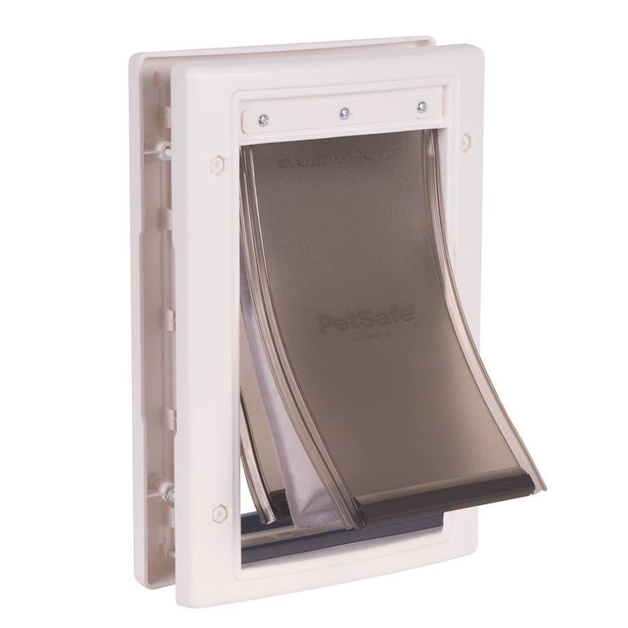 PetSafe Extreme Weather Small White Plastic Door or Wall Pet Door (Actual: 8.25-in x 5.125-in)