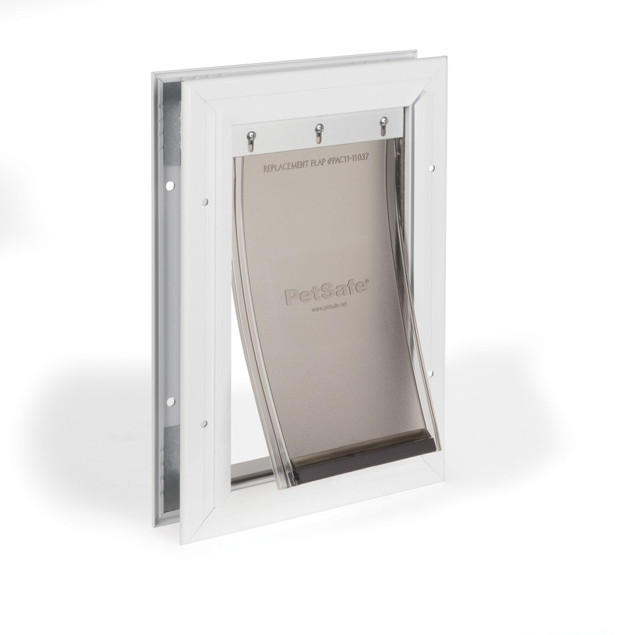 PetSafe Aluminum Small White Aluminum Pet Door (Actual: 5.25-in x 8.125-in)