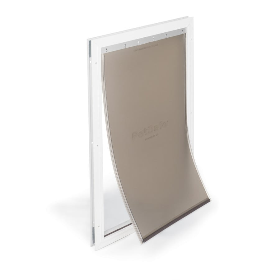 PetSafe Aluminum X-Large White Aluminum Pet Door (Actual: 23.75-in x 13.75-in)