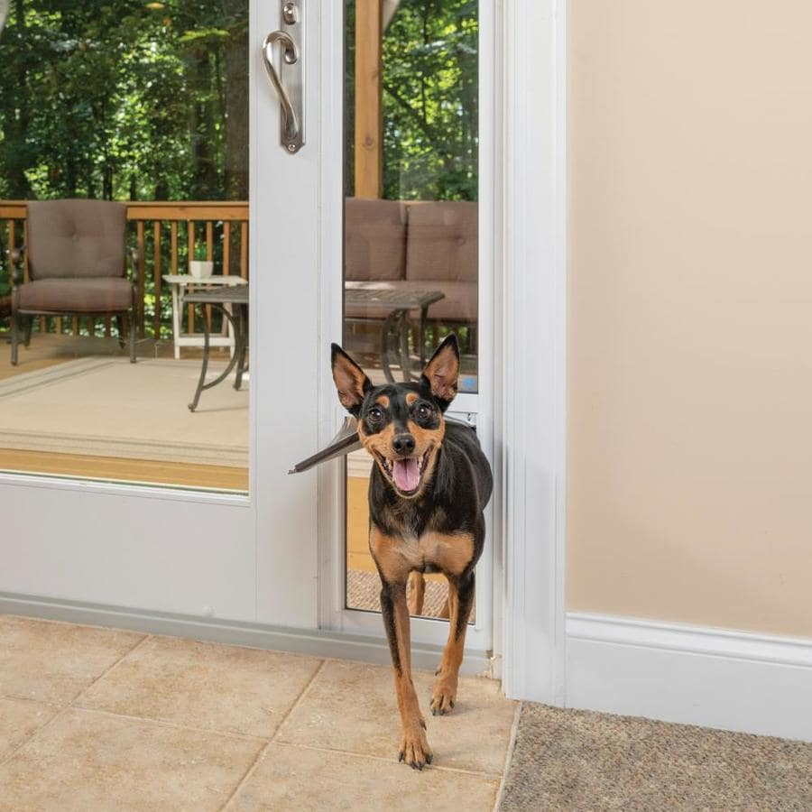 PetSafe Patio Panel Medium White Aluminum Sliding Pet Door (Actual: 16.375-in x 10.25-in)