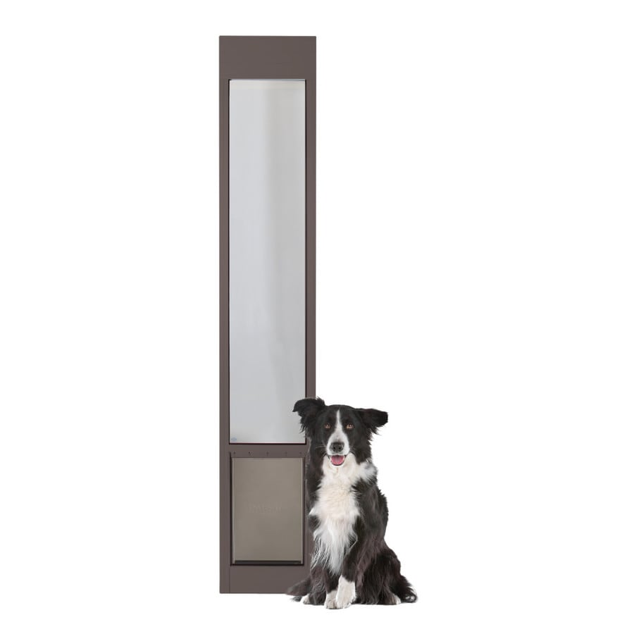 PetSafe Patio Panel Large Bronze Aluminum Sliding Pet Door (Actual: 16.375-in x 10.25-in)
