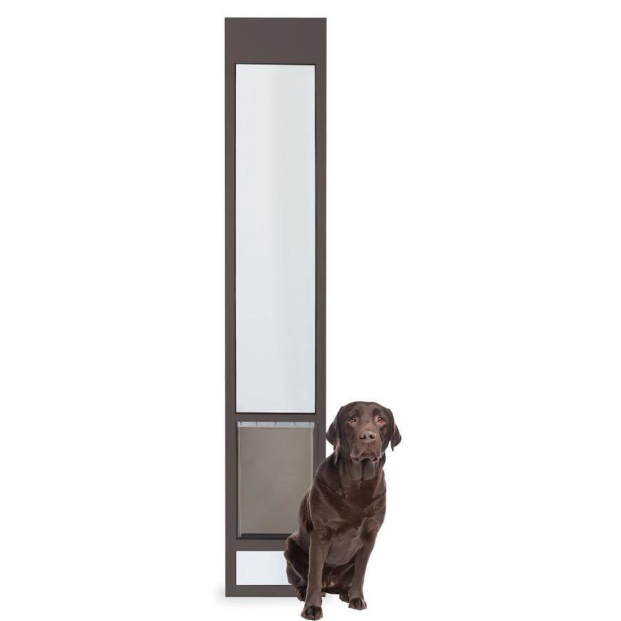 Shop petsafe patio panel large bronze aluminum sliding pet for 10 panel bifold door