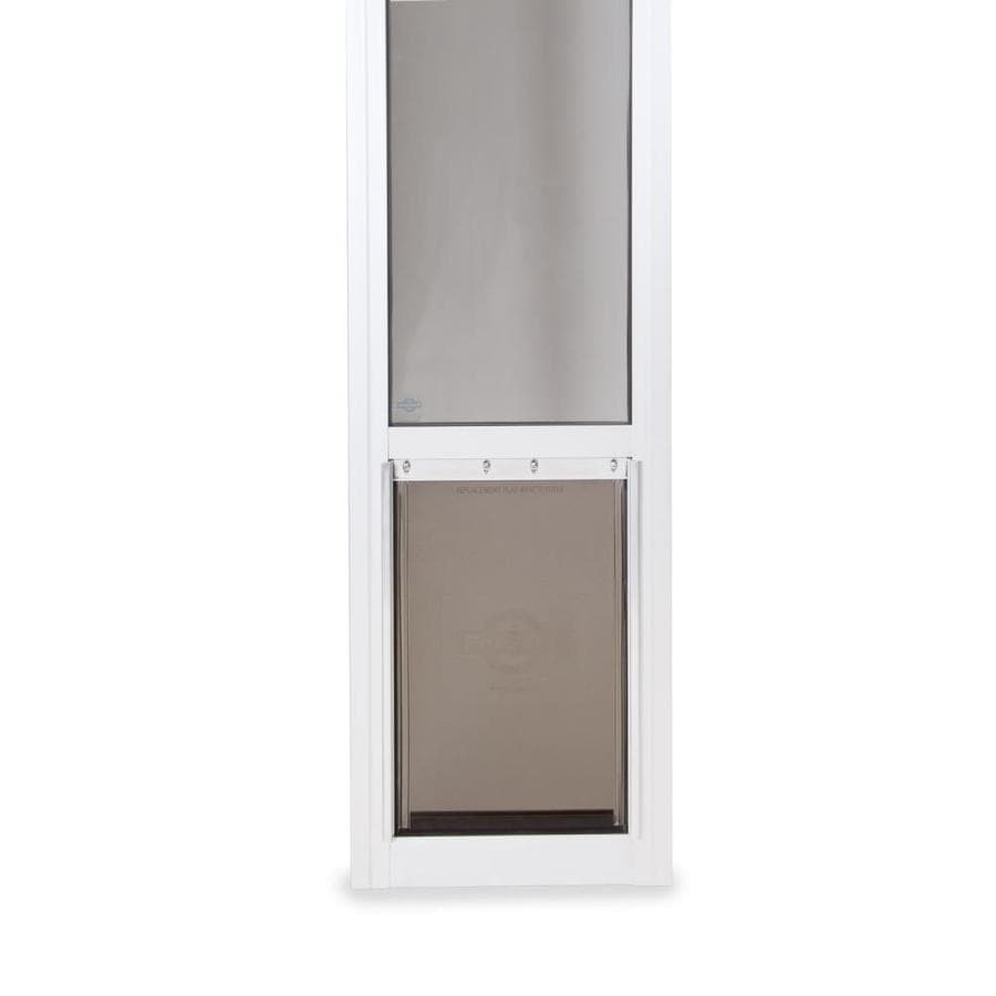 PetSafe Patio Panel Medium White Aluminum Sliding Door Pet Door (Actual: 13.1875-in x 8.25-in)