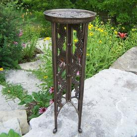 Oakland Living Vineyards 31 In Antique Bronze Round Cast Iron Plant Stand