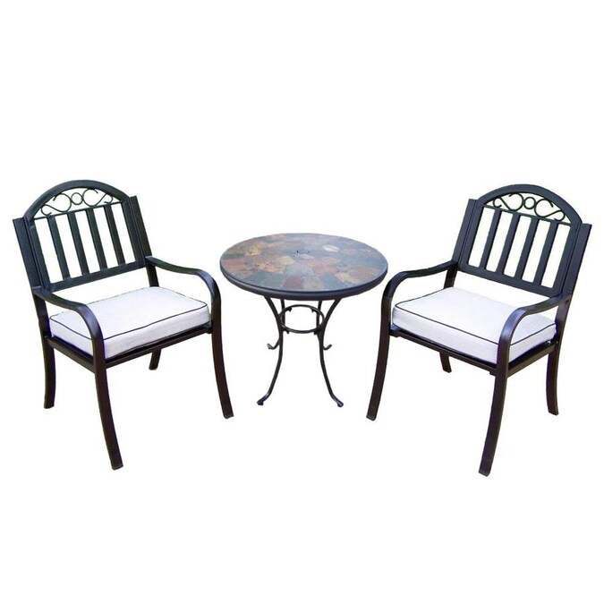 Oakland Living Stone Art 3-Piece Black Frame Bistro Patio ... on Oakland Living Bistro Set id=82688