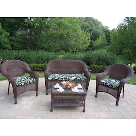 Enjoyable Resin Wicker Patio Conversation Sets At Lowes Com Lamtechconsult Wood Chair Design Ideas Lamtechconsultcom