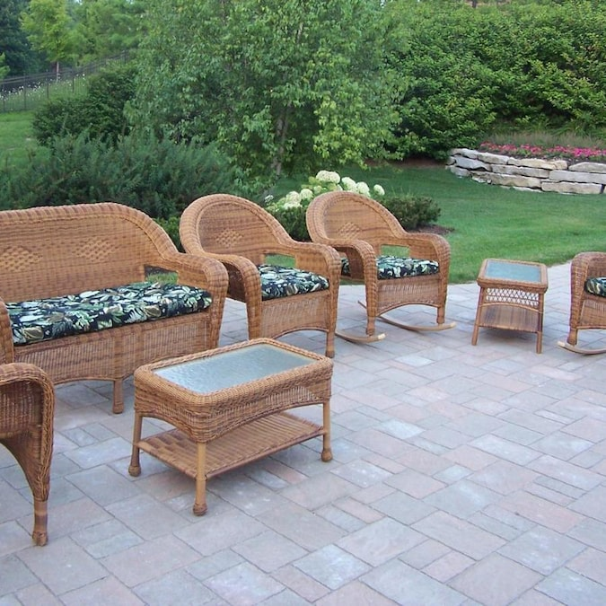 Oakland Living Resin Wicker 7-Piece Metal Frame Patio ... on Oakland Living Patio Sets id=40481
