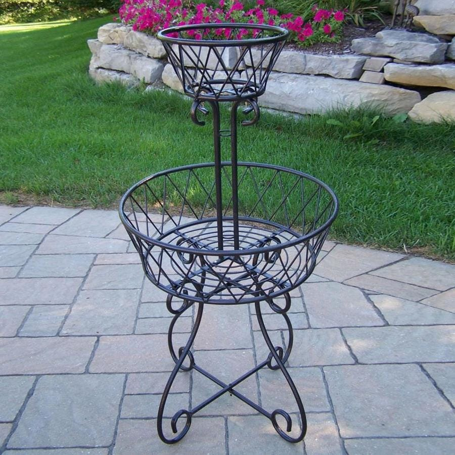 Oakland Living 40 In Black Outdoor Round Cast Iron Plant Stand In The Plant Stands Department At Lowes Com