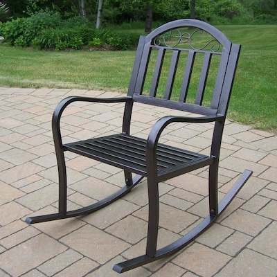 Marvelous Oakland Living Rochester Metal Rocking Chair S With Hammer Squirreltailoven Fun Painted Chair Ideas Images Squirreltailovenorg