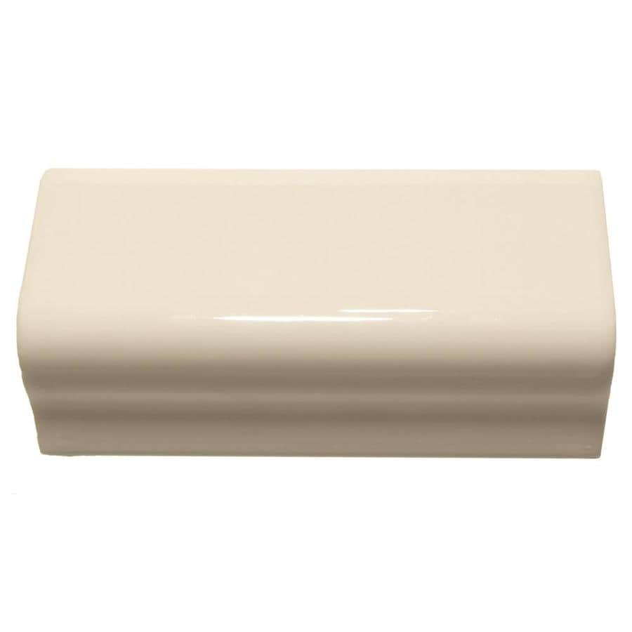 American Olean Starting Line White Gloss Ceramic Bullnose Tile Common 2 In X