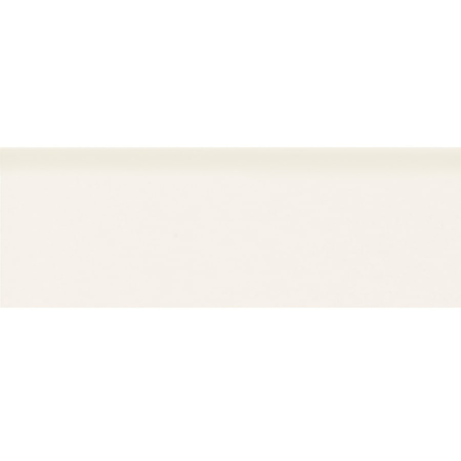 American Olean Matte Designer White Ceramic Bullnose Tile (Common: 2-in x 6-in; Actual: 2-in x 6-in)