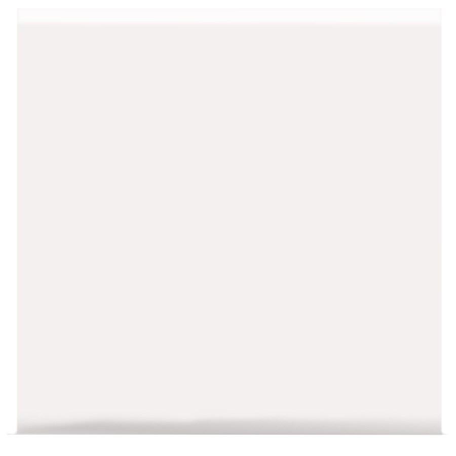 American Olean Matte Designer White Matte Ceramic Bullnose Tile (Common: 6-in x 6-in; Actual: 6-in x 6-in)