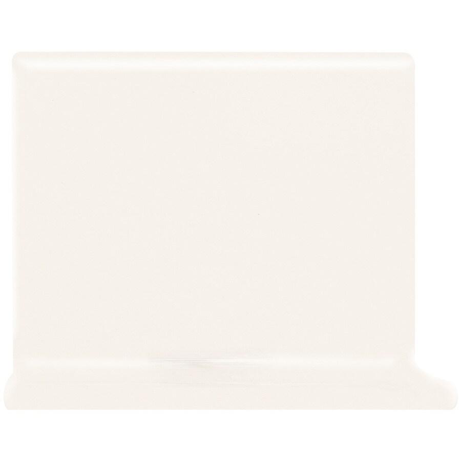 American Olean Matte Designer White Ceramic Cove Base Tile (Common: 6-in x 6-in; Actual: 6-in x 6-in)