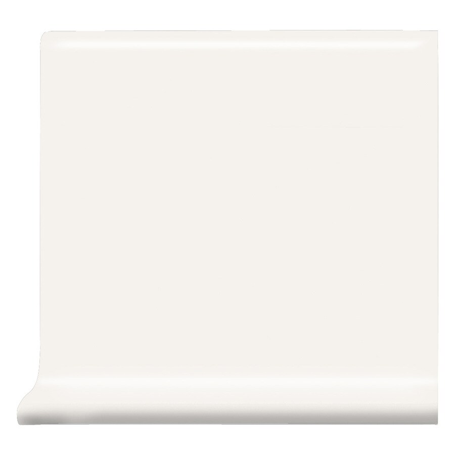 American Olean Matte Designer White Matte Ceramic Cove Base Tile (Common: 6-in x 6-in; Actual: 6-in x 6-in)