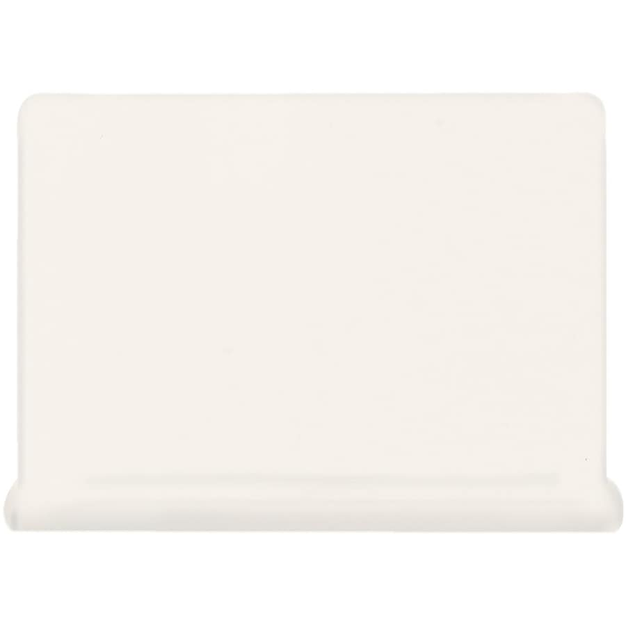 American Olean Matte Designer White Ceramic Cove Base Tile (Common: 4-in x 6-in; Actual: 4.25-in x 6-in)
