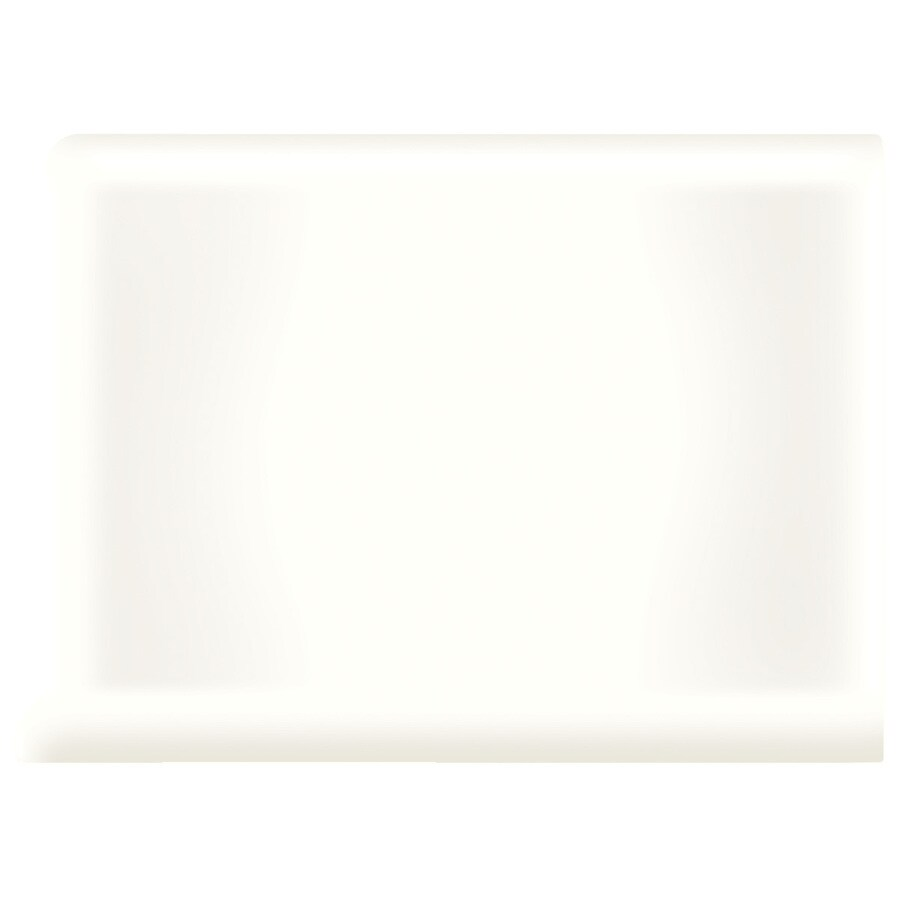 American Olean Bright Snow Mist Ceramic Cove Base Tile (Common: 4-in x 4-in; Actual: 4.25-in x 4.25-in)