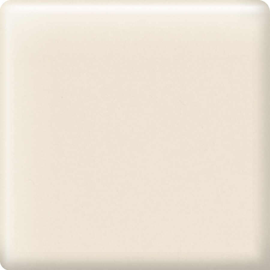 American Olean Bright Almond Ceramic Mud Cap Corner Tile (Common: 2-in x 2-in; Actual: 2-in x 2-in)