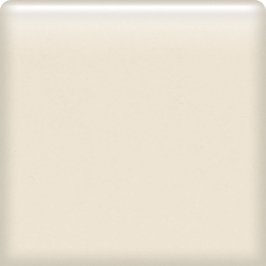 American Olean Bright Almond Ceramic Bullnose Tile (Common: 6-in x 6-in; Actual: 6-in x 6-in)