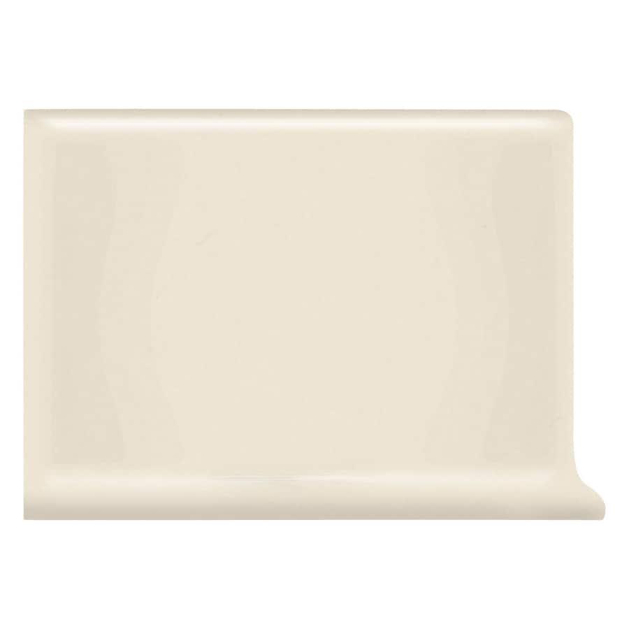 American Olean Bright Almond Ceramic Cove Base Tile (Common: 4-in x 6-in; Actual: 4.25-in x 6-in)
