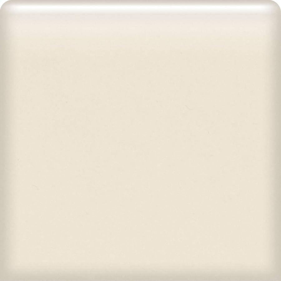 American Olean Bright Almond Ceramic Bullnose Corner Tile (Common: 4-in x 4-in; Actual: 4.25-in x 4.25-in)