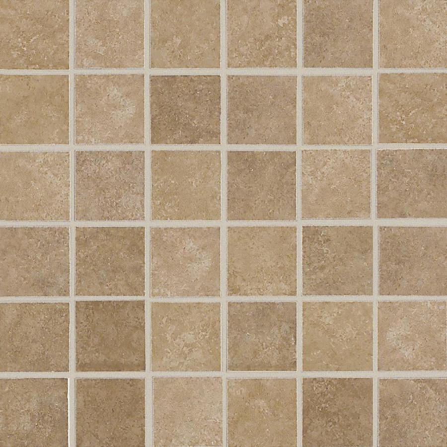 american olean weddington russet uniform squares mosaic ceramic floor and wall tile common 12