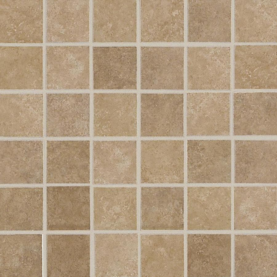 Shop American Olean Weddington Russet Uniform Squares Mosaic Ceramic Floor And Wall Tile Common