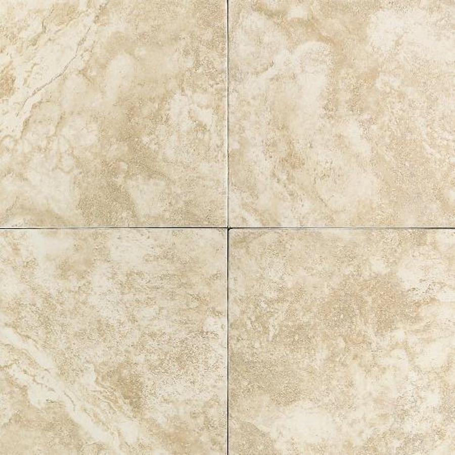 Shop american olean 12 in x 12 in strathmore cream ceramic for 12 ceramic floor tile