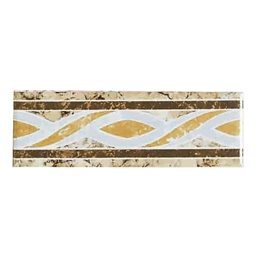 American Olean 6 X 2 Decorative Design Geometric Ceramic Listello Tile