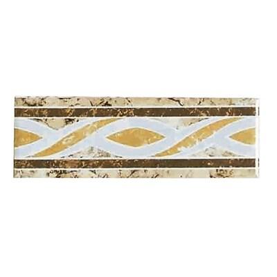 American Olean 6 X 2 Decorative Design Geometric Ceramic