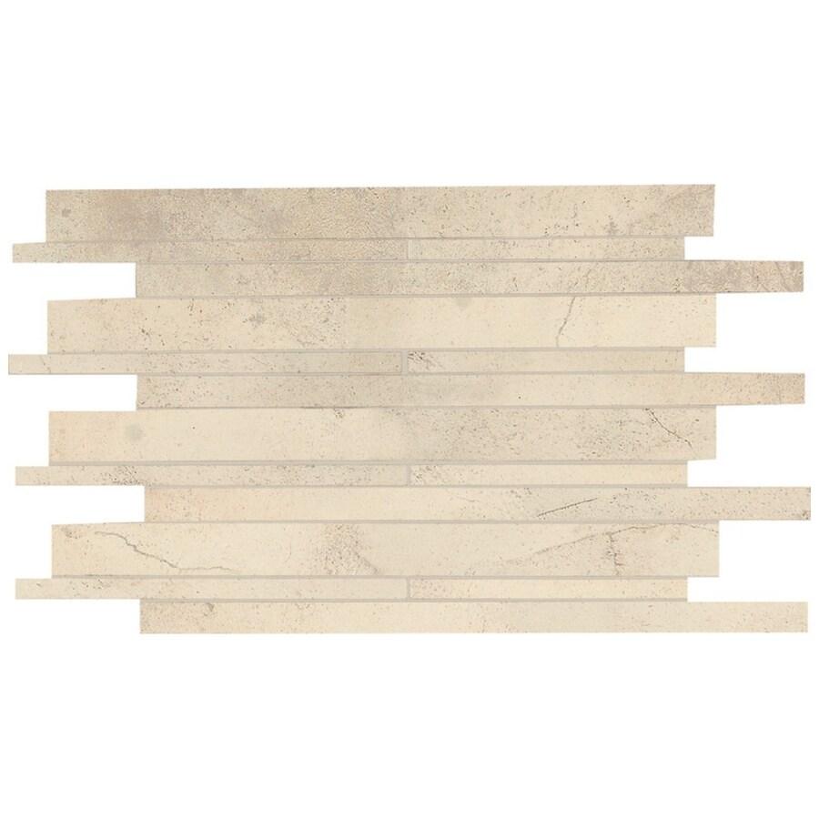 American Olean Costa Rei Sabbia Dorato Random Mosaic Ceramic Floor Tile (Common: 12-in x 18-in; Actual: 12-in x 20-in)