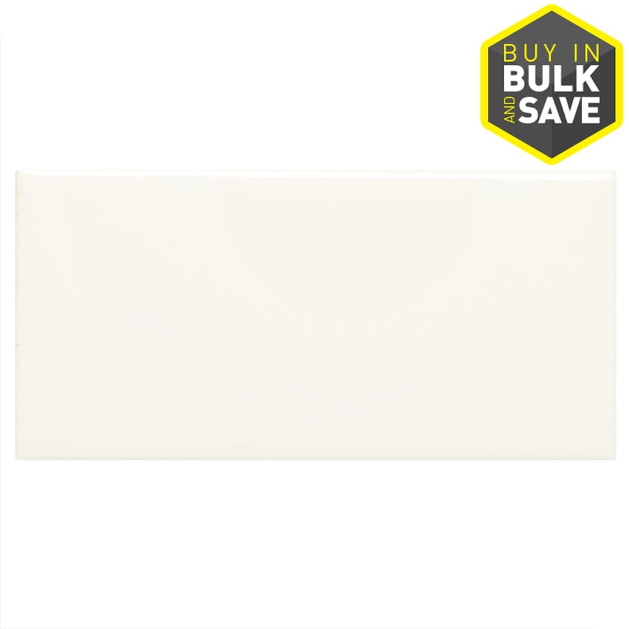Shop tile at lowes display product reviews for starting line gloss white ceramic wall tile common 3 dailygadgetfo Image collections