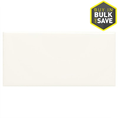 Starting Line Gloss White 3 In X 6 Ceramic Subway Tile Common Actual