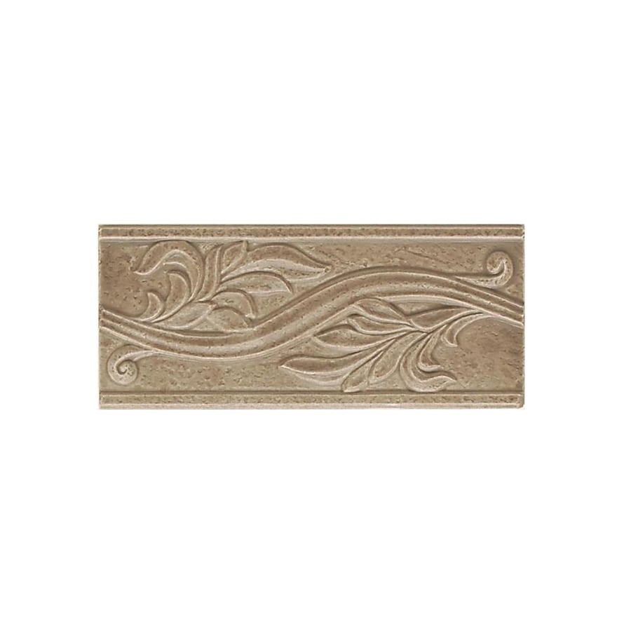 American Olean Ash Creek Walnut Ceramic Listello Tile (Common: 4-in x 9-in; Actual: 4-in x 9-in)
