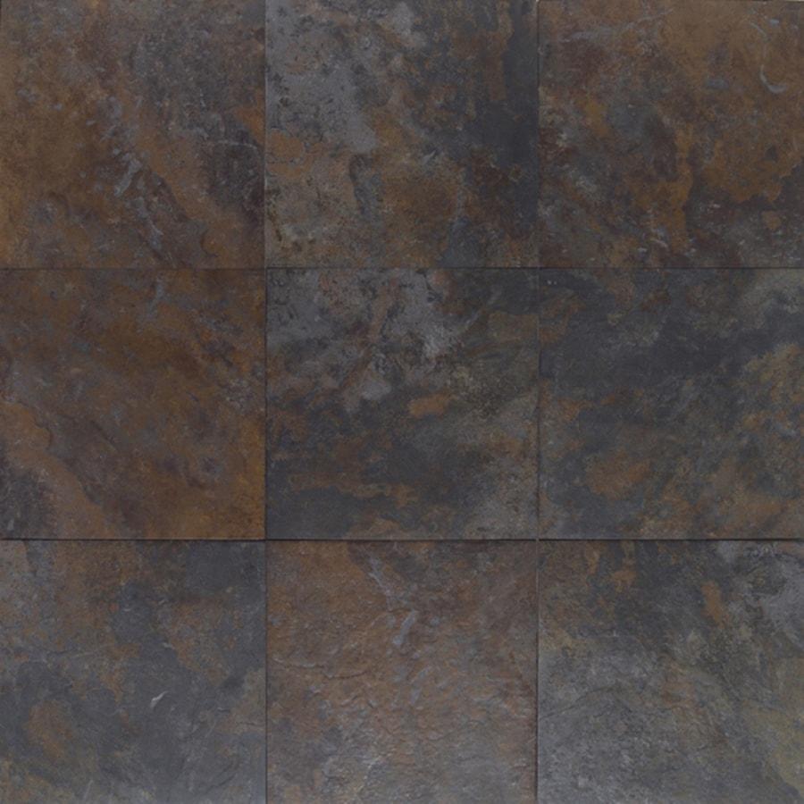 Shop American Olean 6 Pack Amber Valley River Moss Glazed Porcelain Indoor Outdoor Floor Tile