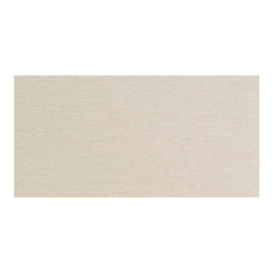American Olean St Germain 8-Pack Creme Thru Body Porcelain Floor and Wall Tile (Common: 12-in x 24-in; Actual: 11.62-in x 23.43-in)