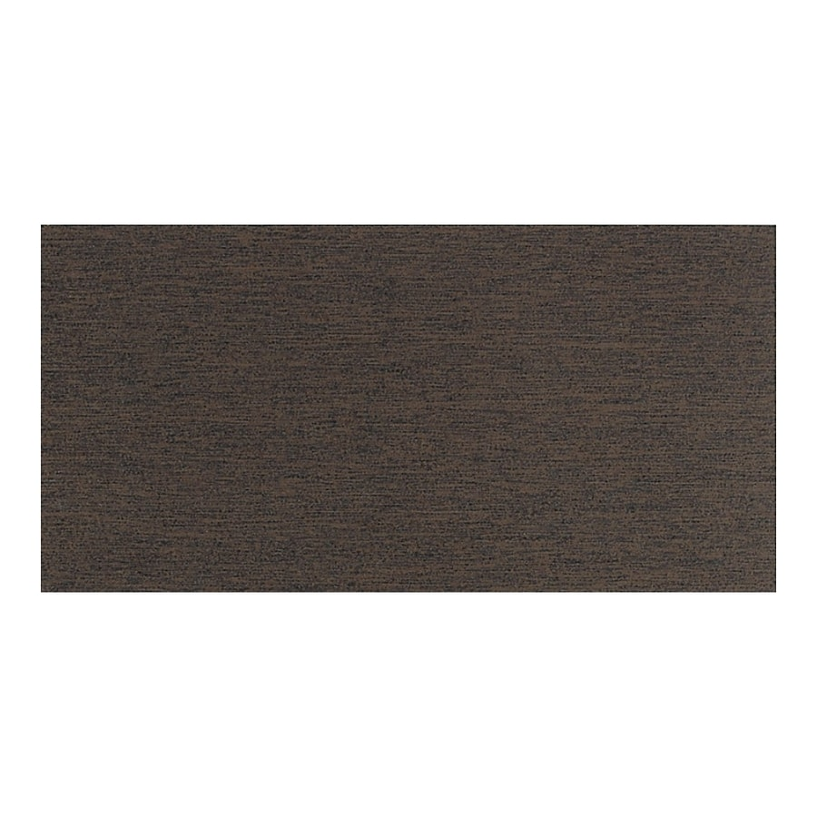 American Olean St Germain 8-Pack Chocolat Thru Body Porcelain Floor and Wall Tile (Common: 12-in x 24-in; Actual: 11.62-in x 23.43-in)