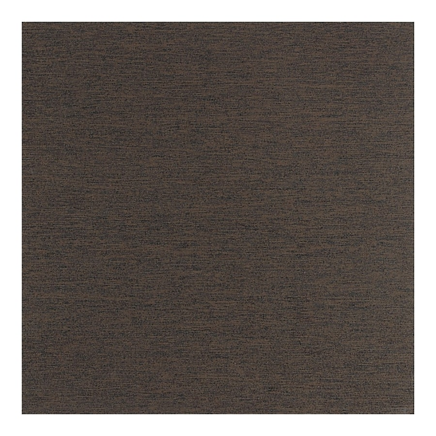 American Olean St Germain 4-Pack Chocolat Thru Body Porcelain Floor and Wall Tile (Common: 24-in x 24-in; Actual: 23.43-in x 23.43-in)