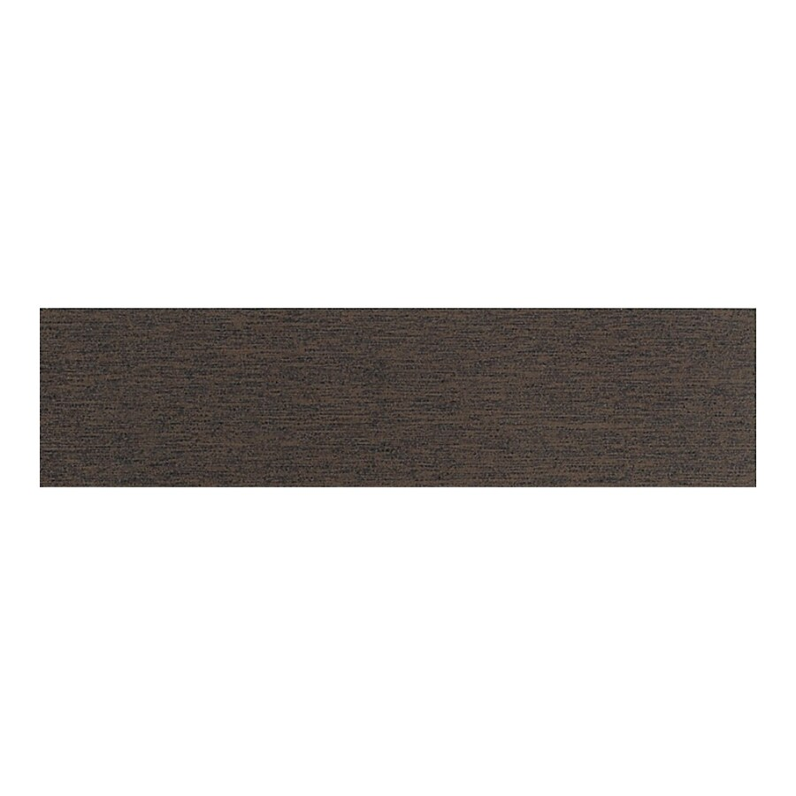 American Olean St Germain Chocolate Thru Body Porcelain Bullnose Tile (Common: 3-in x 12-in; Actual: 2.87-in x 11.5-in)