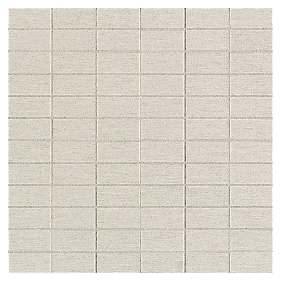 American Olean St Germain 11-Pack Blanc Brick Mosaic Thru Body Porcelain Floor and Wall Tile (Common: 12-in x 12-in; Actual: 11.5-in x 11.5-in)